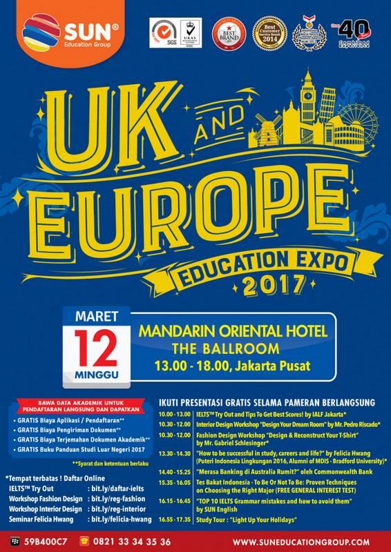 UK & Europe Education Expo Jakarta 2017 @ Mandarin Oriental Hotel Jakarta | Jakarta | Indonesia
