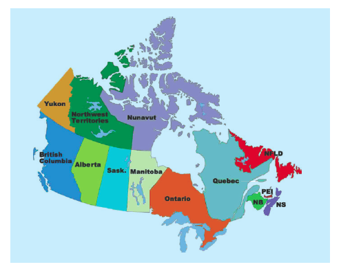 Country Canada map