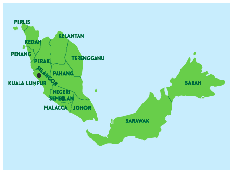 Country Malaysia map