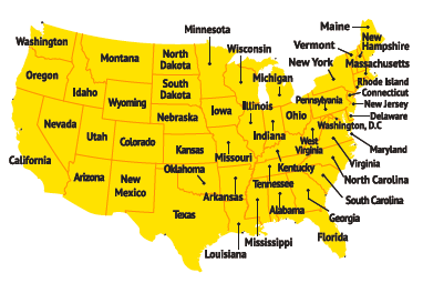Country USA Map