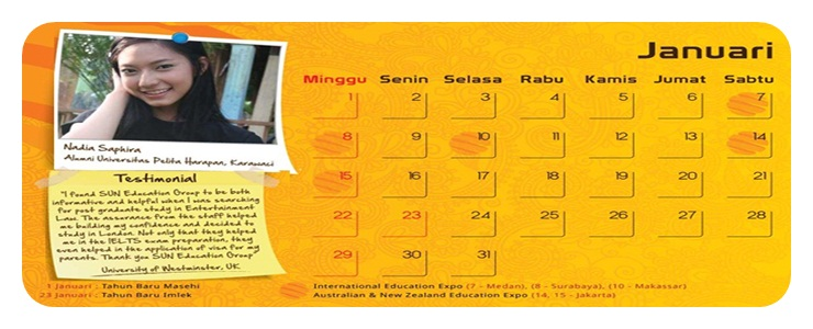 nadia saphira testimonial kalender januari 2012. Black Bedroom Furniture Sets. Home Design Ideas
