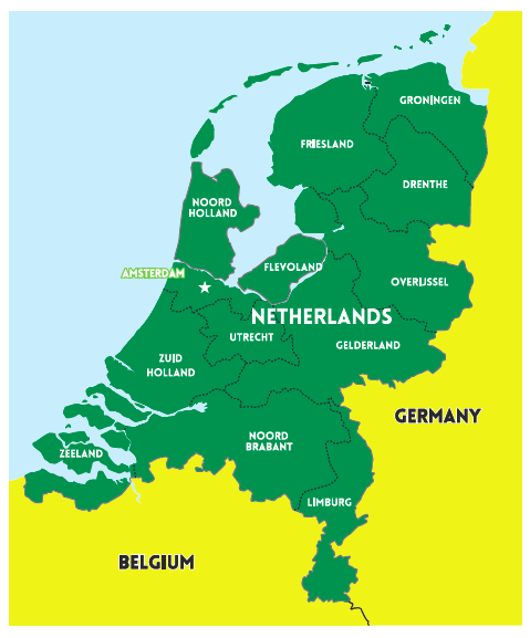 Country Netherlands map